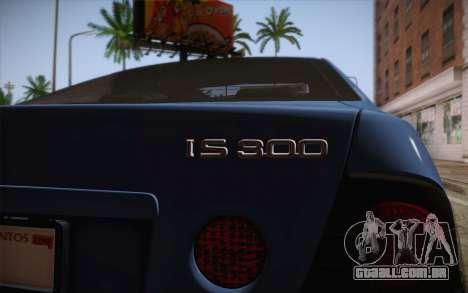 Lexus IS300 2003 para GTA San Andreas vista traseira