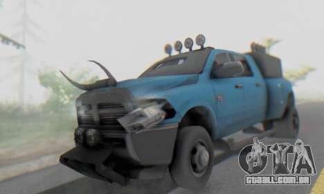 Dodge Ram 3500 Super Reforzada para GTA San Andreas vista interior