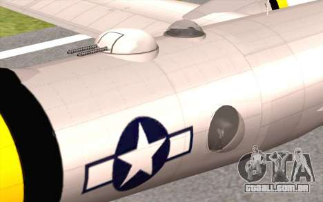 B-29A Superfortress para GTA San Andreas vista direita