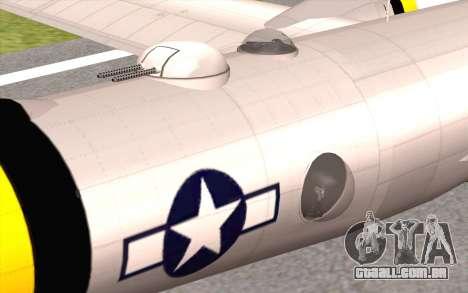 B-29A Superfortress para GTA San Andreas vista direita