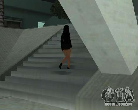 Black Dressed Girl para GTA San Andreas sexta tela