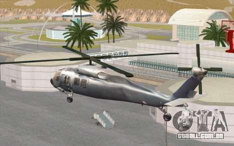 UH-60 Blackhawk para GTA San Andreas esquerda vista