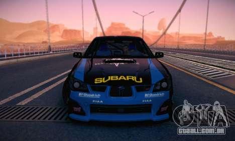Subaru Impreza WRC STI Black Metal Rally para GTA San Andreas vista superior