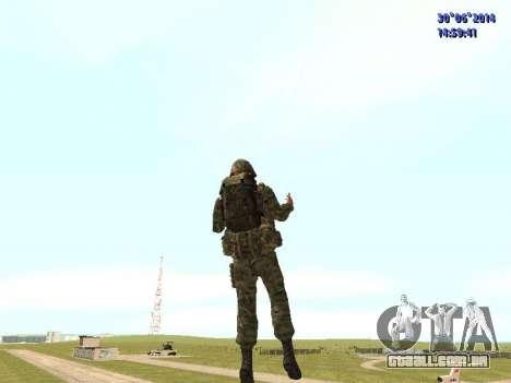 O lutador do exército russo para GTA San Andreas quinto tela