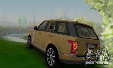 Range Rover Vogue 2014 V1.0 SA Plate para GTA San Andreas traseira esquerda vista