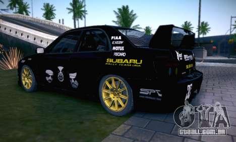Subaru Impreza WRC STI Black Metal Rally para as rodas de GTA San Andreas