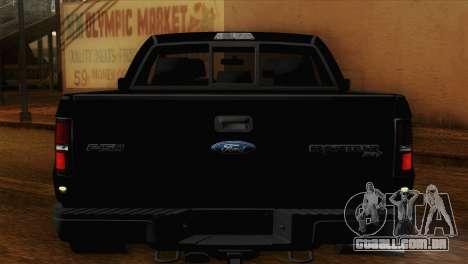 Ford F-150 SVT Raptor 2011 para GTA San Andreas vista interior