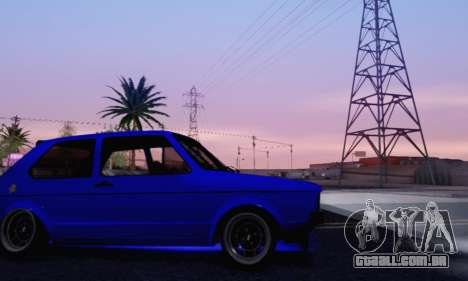 Volkswagen Golf Mk I Punk para GTA San Andreas vista superior