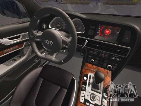 Audi RS6 para GTA San Andreas vista superior
