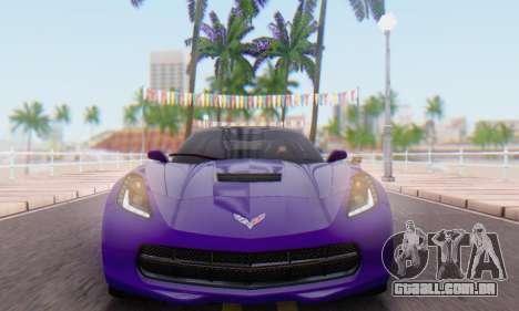 Chevrolet Corvette Stingray C7 2014 para GTA San Andreas traseira esquerda vista