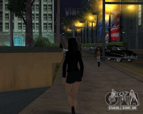 Black Dressed Girl para GTA San Andreas terceira tela