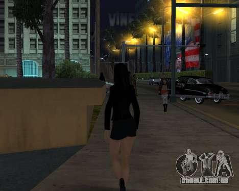 Black Dressed Girl para GTA San Andreas terceira tela