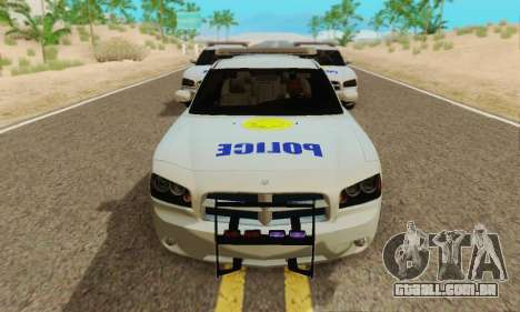 Pursuit Edition Police Dodge Charger SRT8 para GTA San Andreas esquerda vista