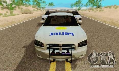 Pursuit Edition Police Dodge Charger SRT8 para GTA San Andreas esquerda vista
