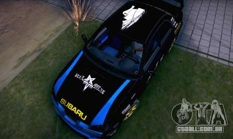 Subaru Impreza WRC STI Black Metal Rally para GTA San Andreas