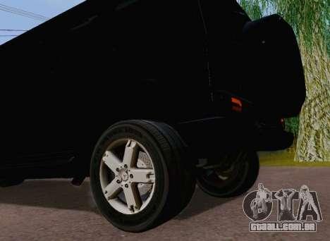 Mercedes-Benz G500 Limousine para GTA San Andreas vista traseira