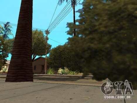 Da selva em uma rua Asteca para GTA San Andreas por diante tela