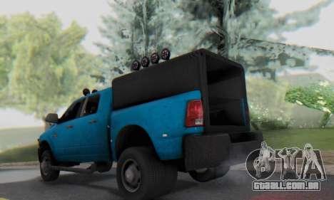 Dodge Ram 3500 Super Reforzada para GTA San Andreas vista direita