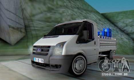 Ford Transit Pikap para GTA San Andreas traseira esquerda vista