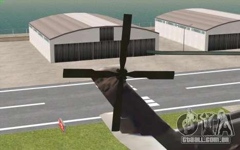UH-60 Blackhawk para GTA San Andreas traseira esquerda vista