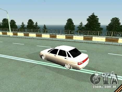 VAZ 2110-2170 para GTA San Andreas traseira esquerda vista