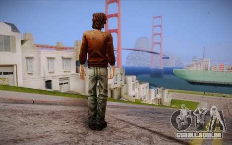 Lucas из The Walking Dead para GTA San Andreas segunda tela