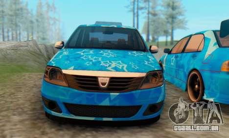 Dacia Logan Blue Star para GTA San Andreas vista traseira