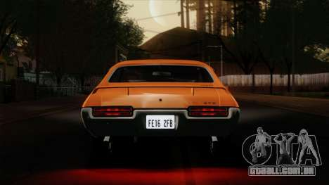 Pontiac GTO The Judge Hardtop Coupe 1969 para GTA San Andreas vista interior