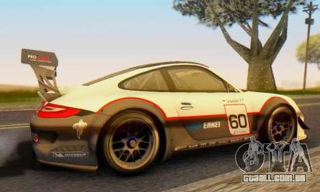 Porsche GT3 R 2009 para GTA San Andreas traseira esquerda vista