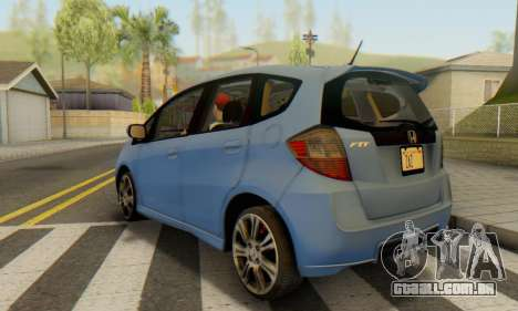 Honda Fit Stock 2009 para GTA San Andreas esquerda vista