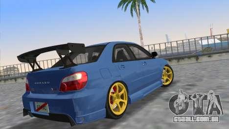Subaru Impreza WRX STI 2005 para GTA Vice City deixou vista