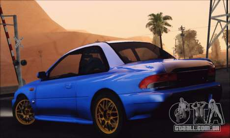 Subaru Impreza 22B STi 1998 para GTA San Andreas esquerda vista