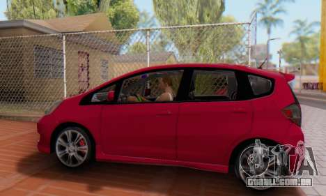 Honda Fit Stock 2009 para GTA San Andreas vista direita