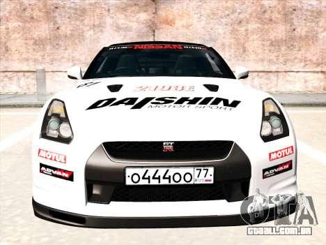 Nissan GTR-R35 Spec-V para GTA San Andreas vista superior