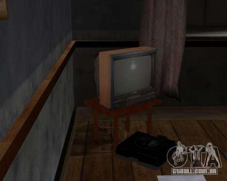 Tv em cores de alfa-TC- para GTA San Andreas terceira tela