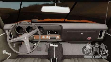 Pontiac GTO The Judge Hardtop Coupe 1969 para GTA San Andreas vista direita