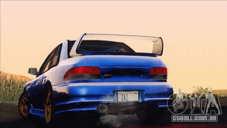Subaru Impreza 22B STi 1998 para GTA San Andreas vista inferior