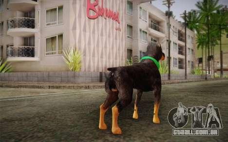 Rottweiler from GTA V para GTA San Andreas segunda tela