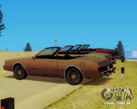 Majestic Conversível para GTA San Andreas vista direita