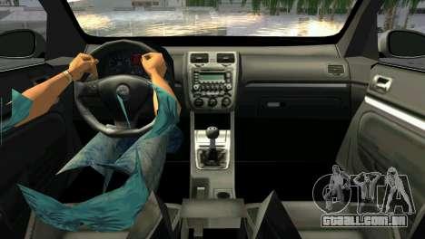 Volkswagen Golf V GTI para GTA Vice City vista traseira esquerda