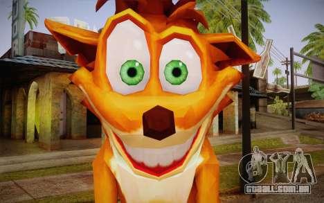 Crash Bandicoot (Crash Of The Titans) para GTA San Andreas terceira tela