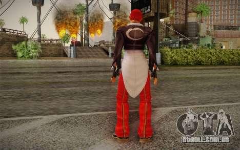 Iori Yagami para GTA San Andreas segunda tela