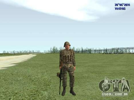 O lutador do exército russo para GTA San Andreas sétima tela