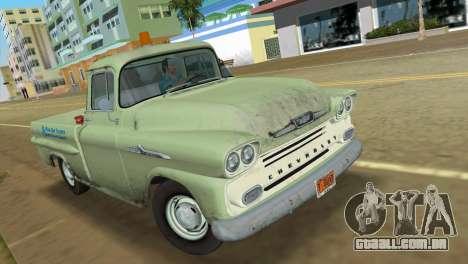Chevrolet Apache Fleetside 1958 para GTA Vice City deixou vista