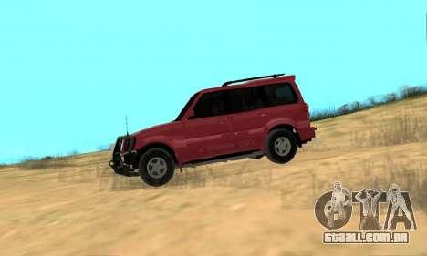 Mahindra Scorpio para GTA San Andreas traseira esquerda vista