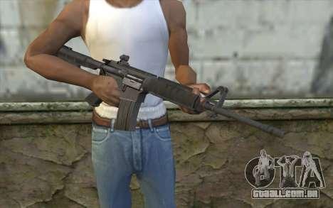 SGW M4 Rifle para GTA San Andreas terceira tela