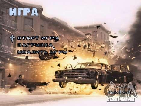 Tela de inicialização do Mafia II para GTA San Andreas sétima tela