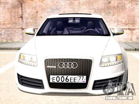 Audi RS6 para GTA San Andreas esquerda vista