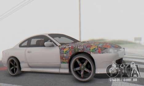 Nissan Silvia S15 Metal Style para GTA San Andreas vista interior