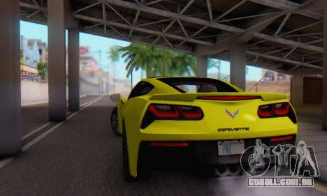 Chevrolet Corvette Stingray C7 2014 para vista lateral GTA San Andreas